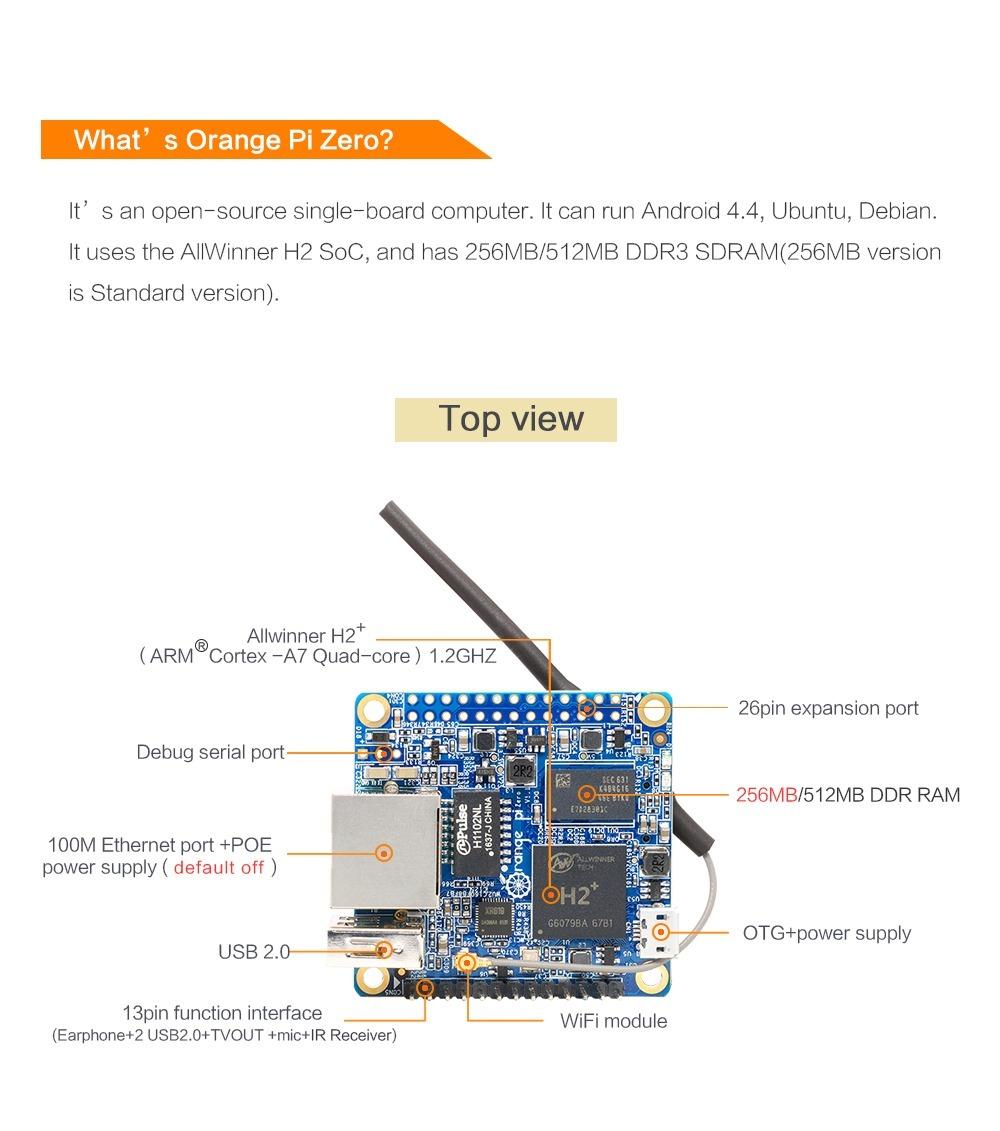 Orange Pi Zero 512mb Com Sd Card 16gb E Manual Em Português