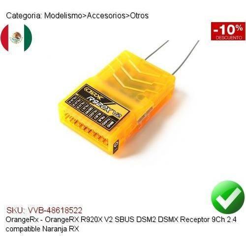 Orangerx R920x V2 Sbus Dsm2 Dsmx 9ch 2 4 Receiver Orange Rx