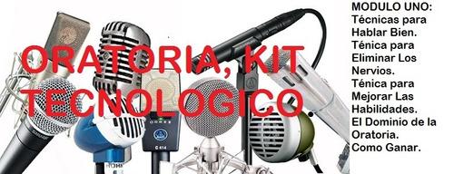 oratoria. kit tecnológico. hágase orador en 30 dias.