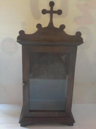 oratório capela pequeno em madeira maciça