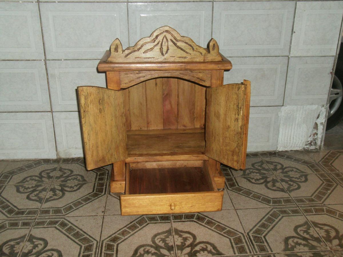 Armario Cama Plegable ~ Oratorio Em Madeira Rustica Com Gaveta R$ 250,00 em Mercado Livre