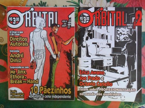 orbital  nºs 1 e 2 - hq nacional e fanzine! r$ 50,00!