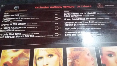 orchester anthony ventura je t'aime 2 instrumental pop jazz