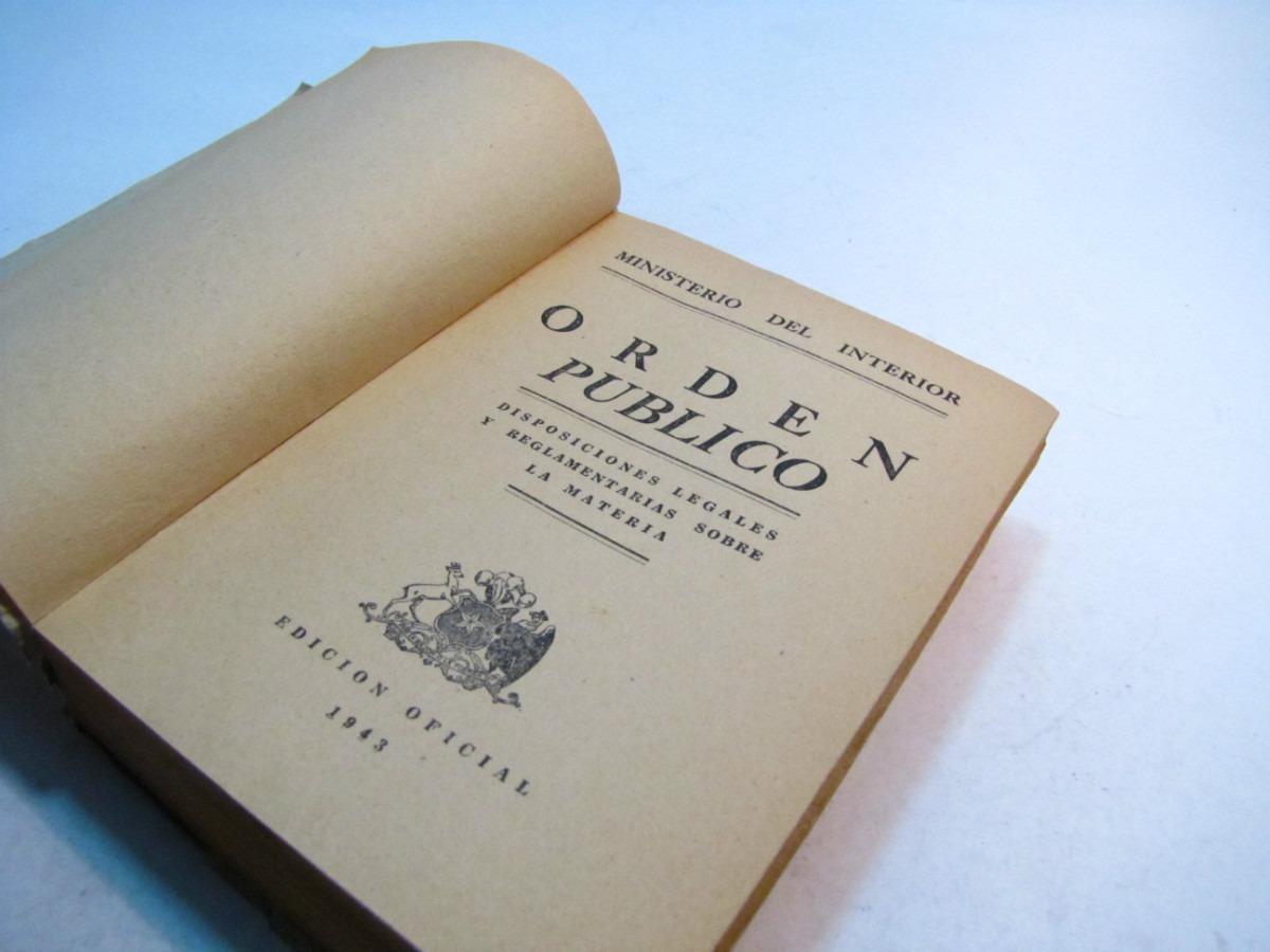 Orden publico ministerio del interior chile 1942 10 for Ministerio del interior como llegar