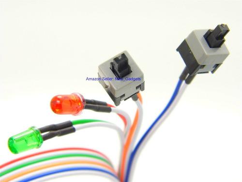 ordenador placa base atx interruptor de reinicio de energía