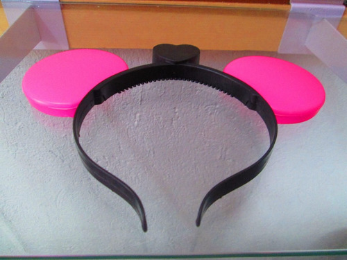 orejas mickey luminosa led color rosa fiesta batucada diadem