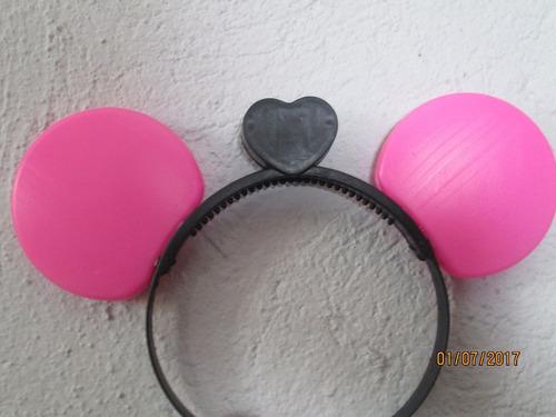 orejas mickey luz led rosa diadema luminosa mimi fiesta boda