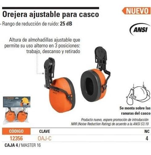 orejera ajustable para casco truper 12356