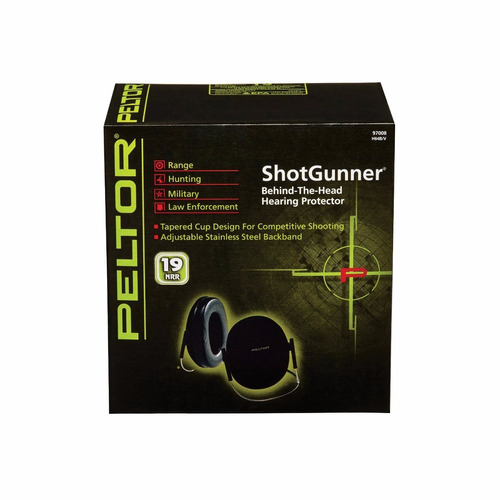 orejeras peltor sport shotgunner hearing protector, black