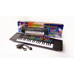 Organeta Para Niños M 3738s Microfono + Adaptador Corriente