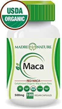 orgánico certificado raíz de maca gelatinizada rojo polvo