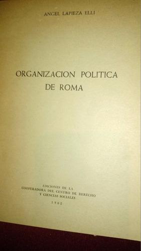 organización política república roma ángel lapieza elli