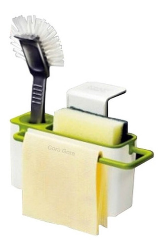 organizador 3en1 colgante / detergente esponja mesada gora