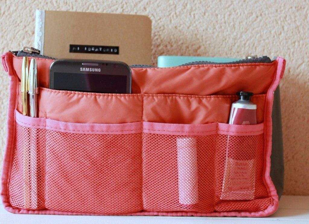 Organizador acolchada de bolsos carteras color naranja 2x - Organizador de carteras ...