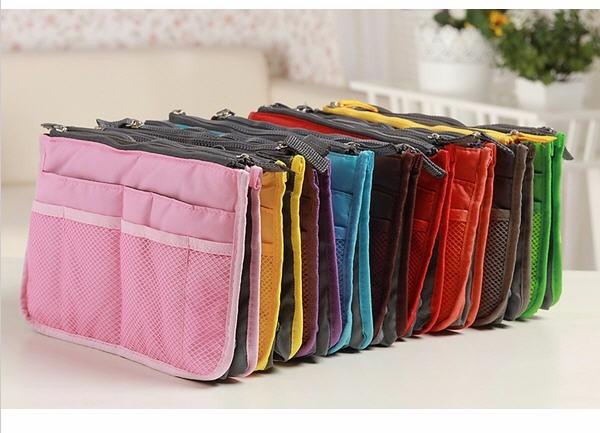 Organizador acolchada de bolsos carteras color naranja s - Organizador de carteras ...