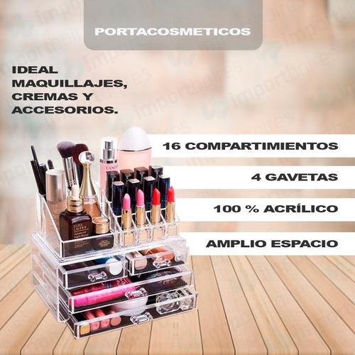 organizador acrilico con cajones porta cosmeticos maquillaje