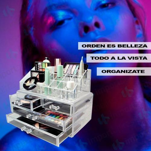 organizador acrilico grande porta cosmeticos maquillajes