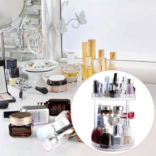 organizador acrilico maquiagem display giratório 360° redond