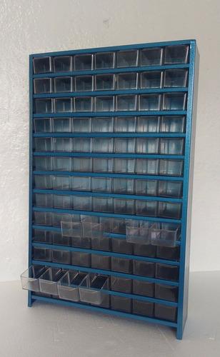 organizador, anaquel metálico multiusos con 91 gavetas e17