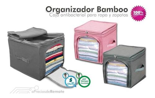 organizador antibacterial bamboo para ropa zapatos bolsos !
