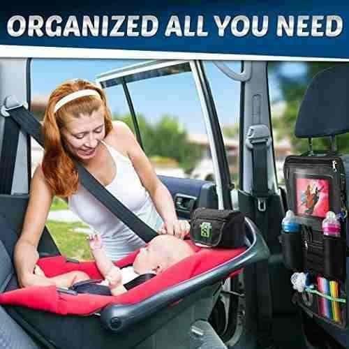 organizador asiento coche para ipad multiple pockets