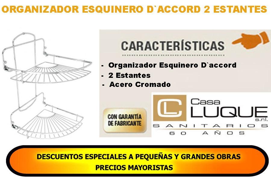organizador baño acero cromado daccord esquinero 2 estantes. Cargando zoom. 56caa71b8d57