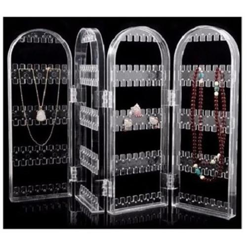 organizador brincos joias colar bijuterias luxo em acrilico