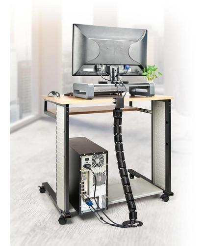 organizador cables bajo escritorio computadora laptop aidata