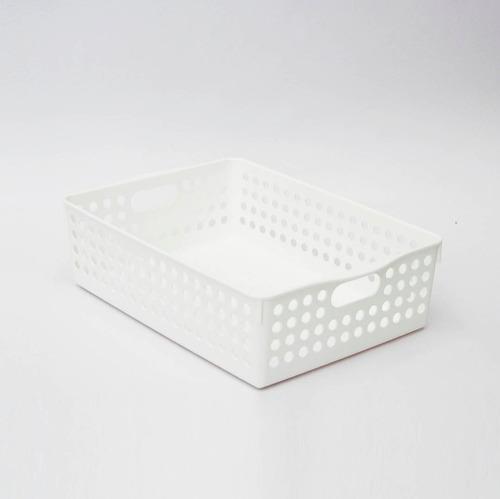 organizador canasta plástico bandeja baja multifunción japón