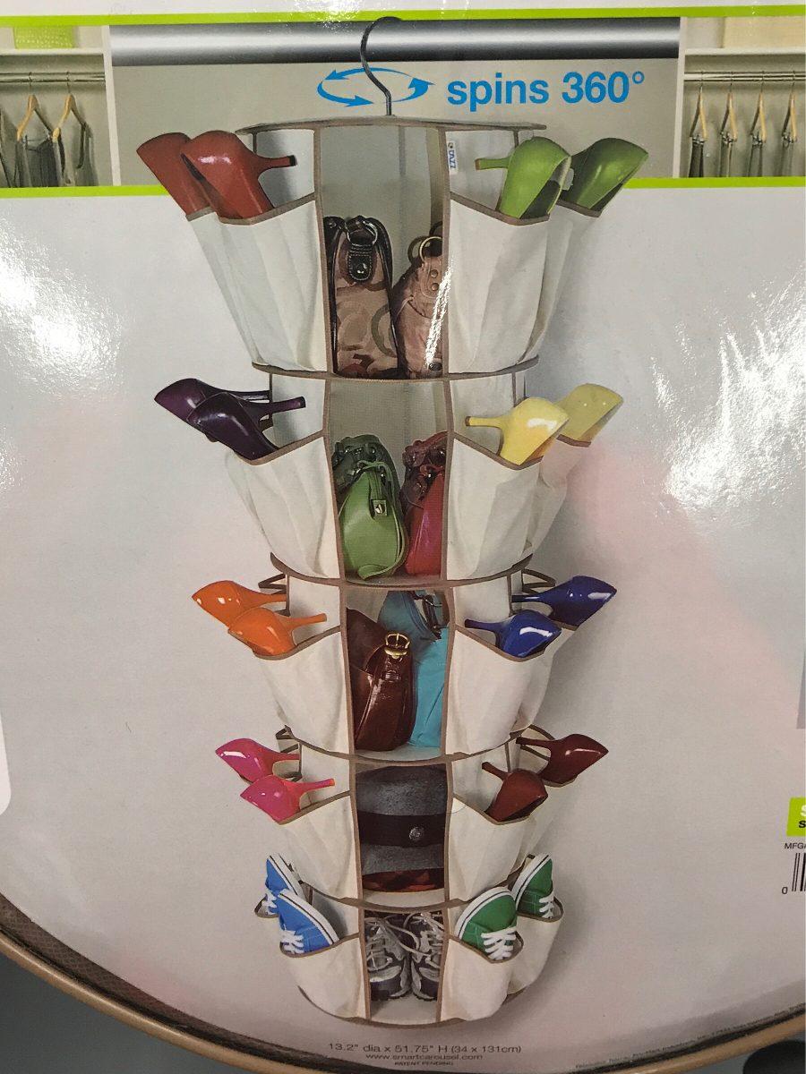 Organizador carrusel para zapatos 5 niveles 40 bolsillos - Organizador de zapatos para armario ...