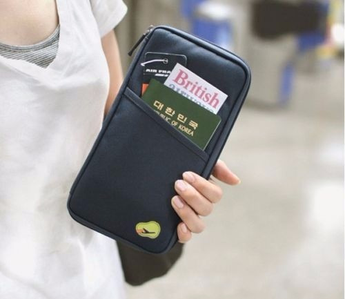 organizador cartera documentos viaje pasaporte visa, boletos