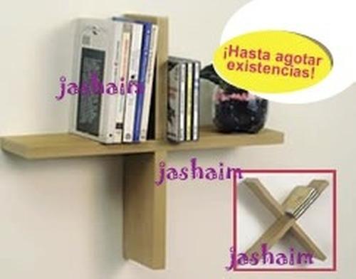 organizador cds ibros accesorios tipo repisa flotante cruz x