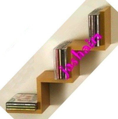 organizador cds ibros objetos tipo repisa flotante escalera