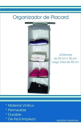 organizador colgante, 4 estantes para ropa/ zapatos
