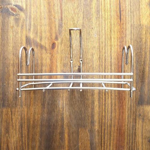 organizador colgante baño cocina multi uso acero inoxidable