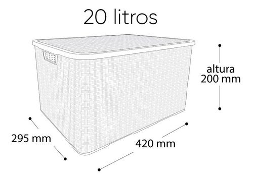 organizador container com tampa multiuso 20 litros para brin
