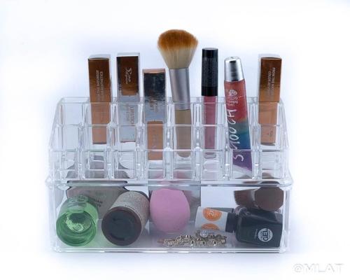 organizador cosmético acrílico maquillaje labial y cajon