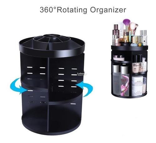 organizador cosmetico perfume maquiagem com rotacao 3 andar