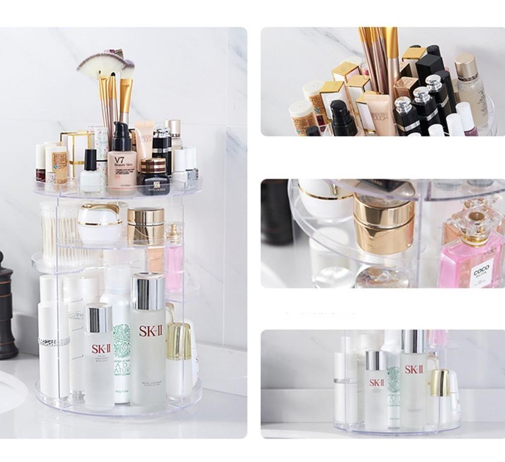 Image result for organizador de cosmeticos giratorio
