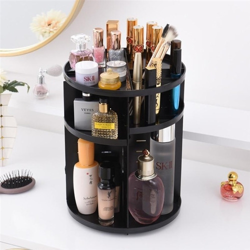 organizador cosmeticos giratorio perfume maquiagem 3 andares
