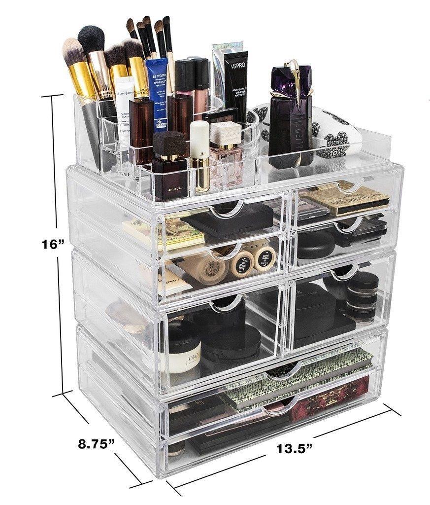 Organizador Cosm Ticos Maquillaje Joyas 8cajones Salon  ~ Organizador De Joyas Para Cajones