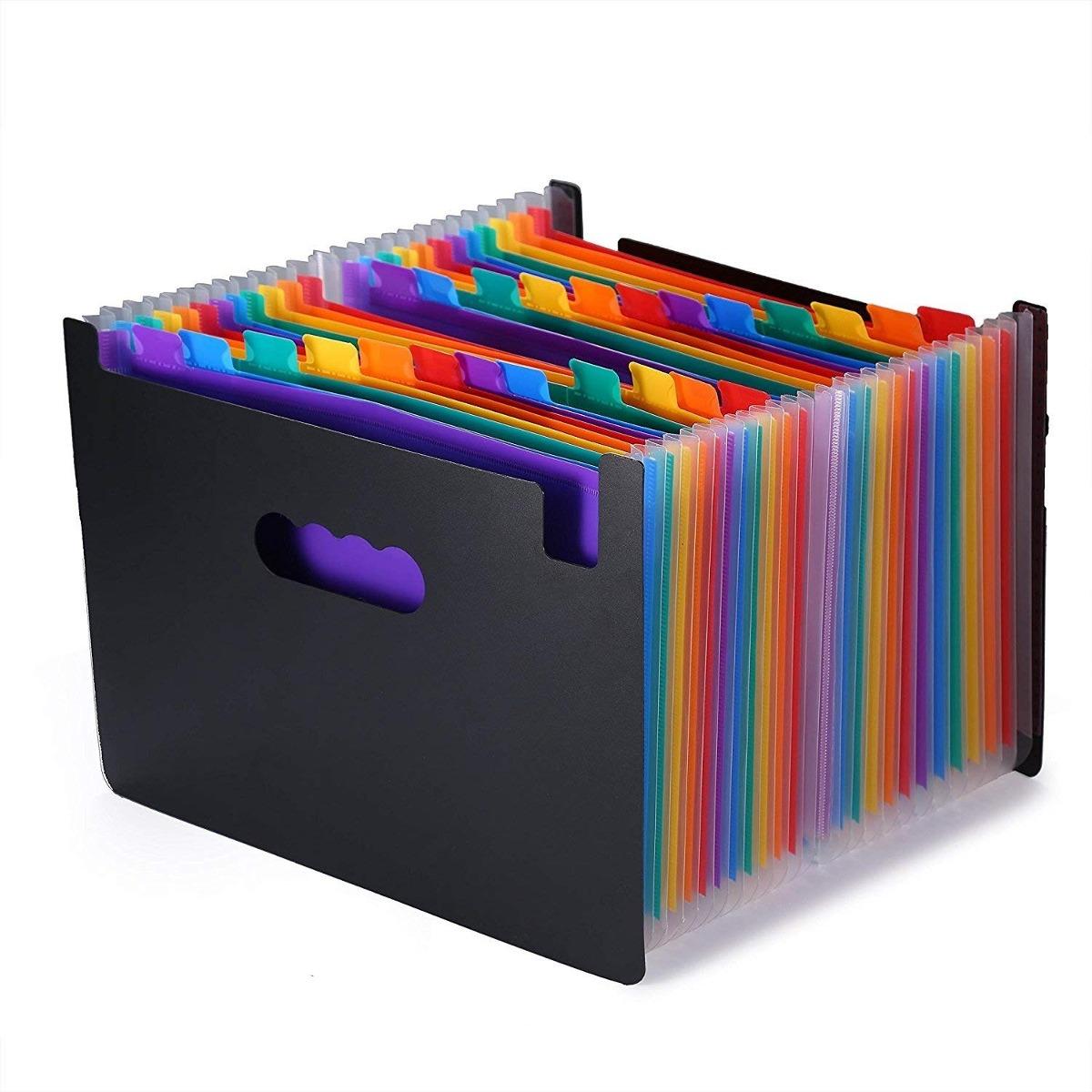 Organizador De Archivos Con Separadores De Colores