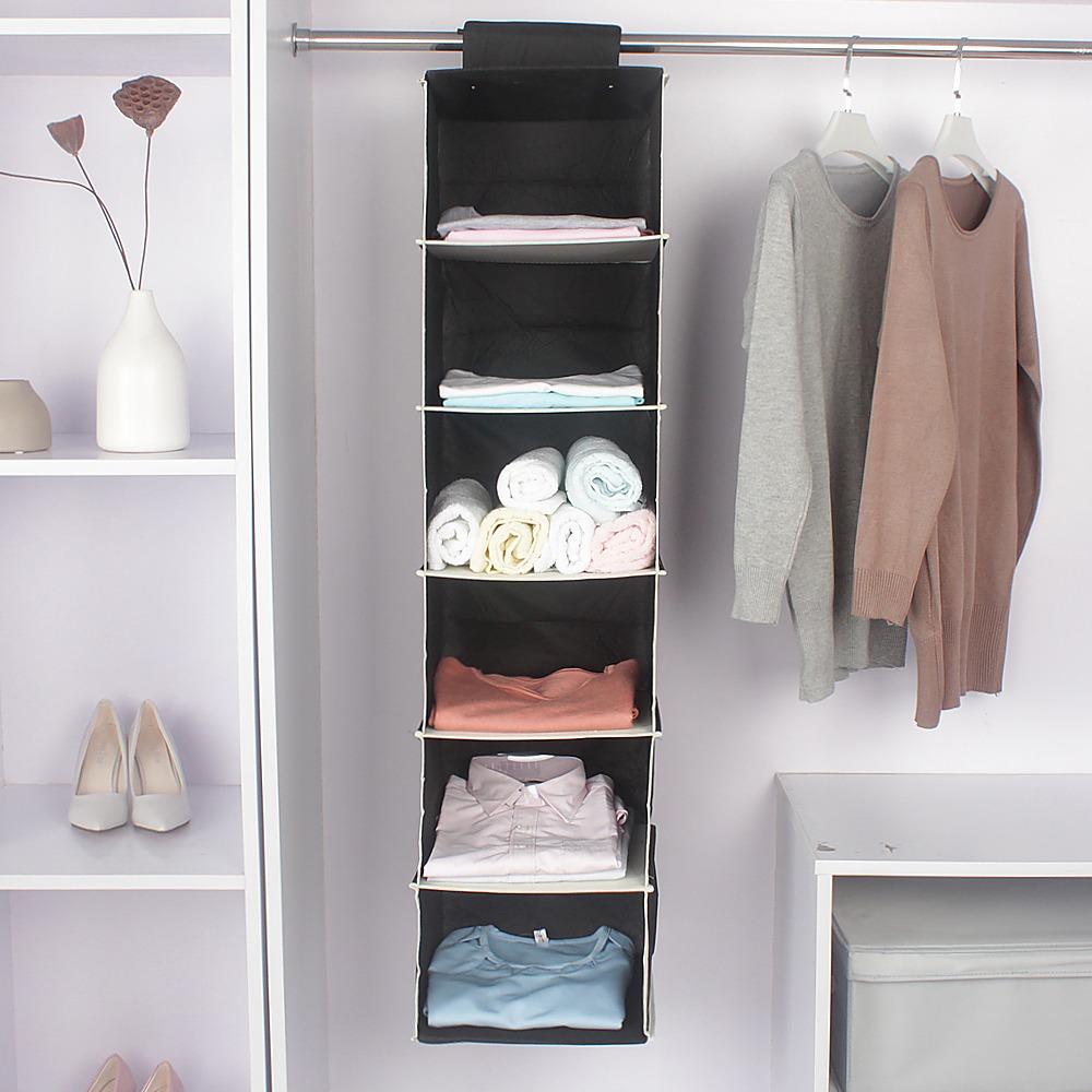 Organizador colgante de 6 estanterias para armarios