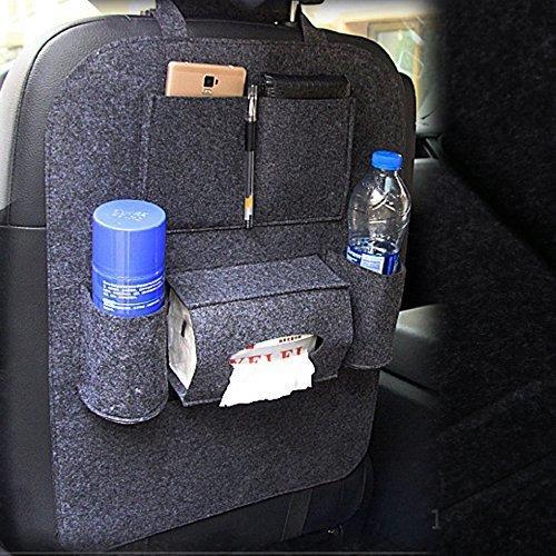 organizador de asiento trasero de carro de fieltro de lana p