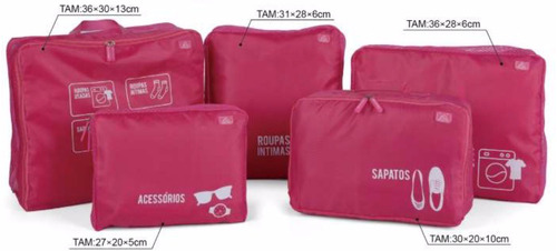 organizador de bagagem p/ mala de viagem 2 kits com 5 peças!