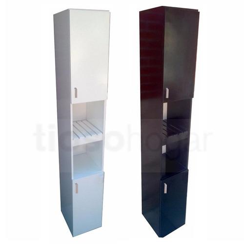 Muebles Para Baño Organizadores:Organizador De Baño 30x28x180 Madera Mdf Toallero Placard – $ 1875