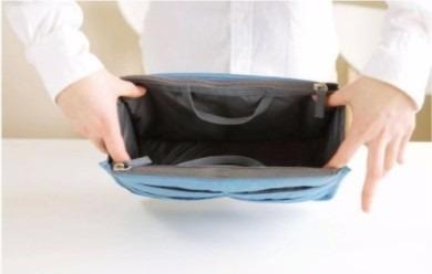 organizador de bolsa azul - pronta entrega