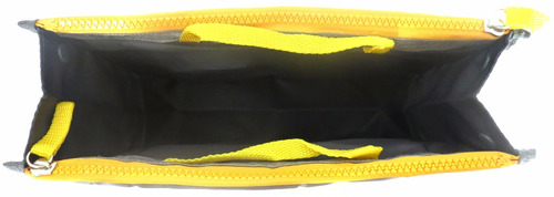 organizador de bolsa cinza e amarelo - pronta entrega