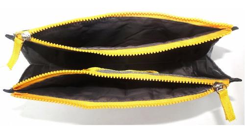 organizador de bolsa preto c/ zíper amarelo entrega rápida