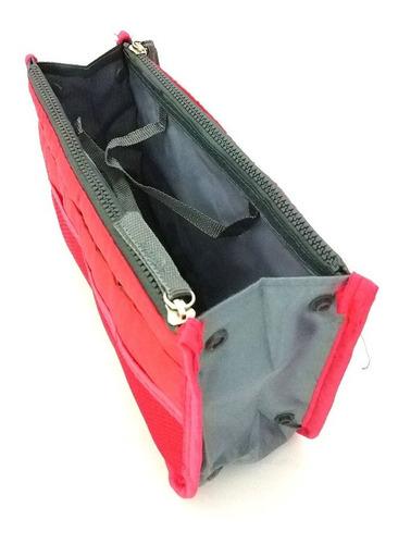 organizador de bolsa vermelho - pronta entrega